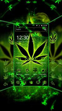 Neon Rasta Weed Theme poster
