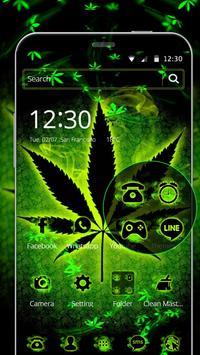 Neon Rasta Weed Theme screenshot 1