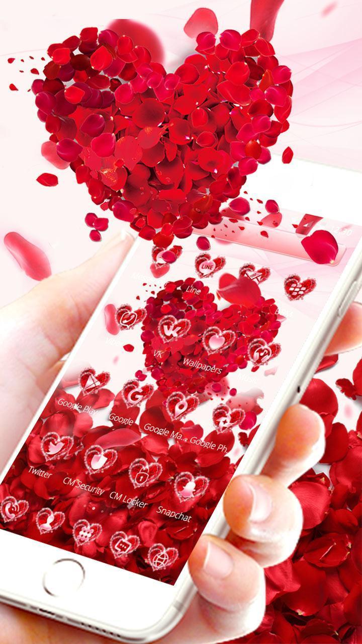 紅玫瑰愛心 情人節紅玫瑰花主題安卓下載 安卓版apk 免費下載
