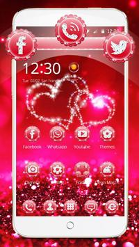 Glitter Love Sparkle Theme Wallpaper poster