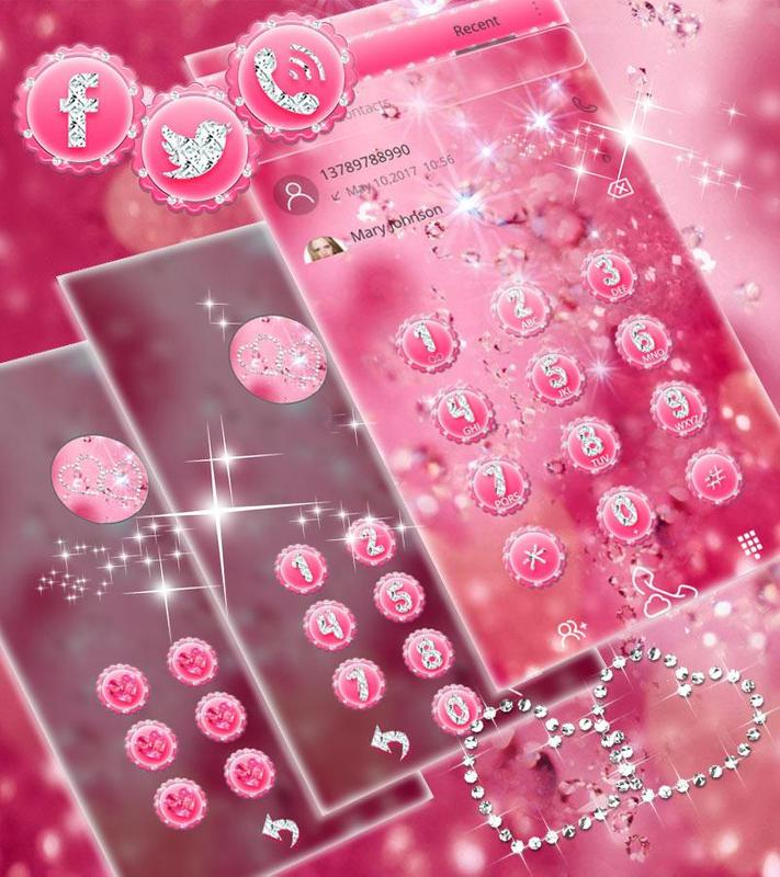 Pink Diamond Theme Wallpaper Glitter For Android Apk Download