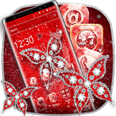 Red Diamond Butterfly Theme icon