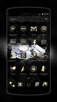 Diamond Black Theme apk screenshot