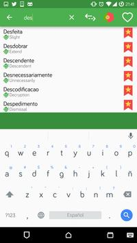English - Portuguese OFFLINE Dictionary apk screenshot