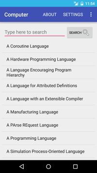 Computer Dictionary English apk screenshot