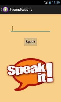 Text to Speech to Text apk screenshot