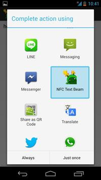 NFC Text Beam apk screenshot