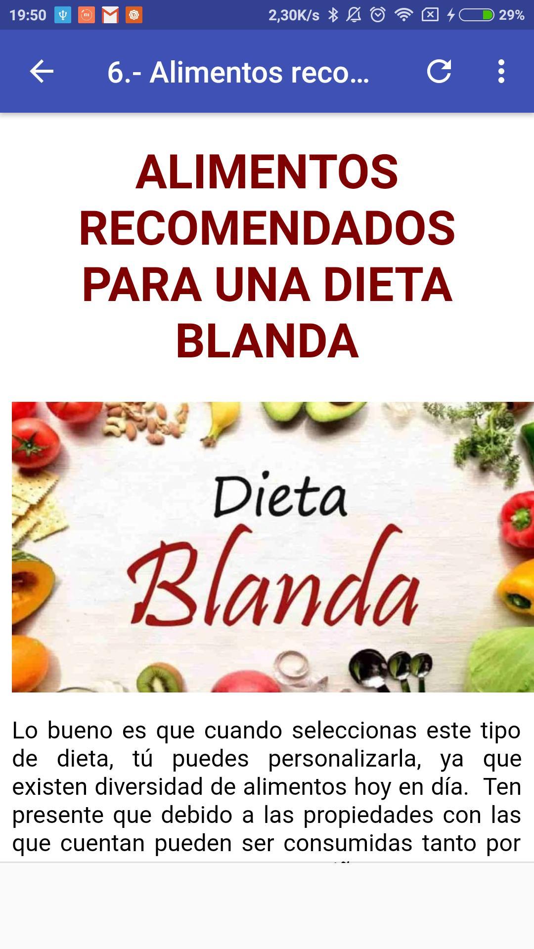 dieta dia a dia para la gastritis