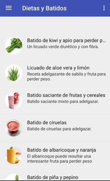 Diets and smoothies to lose weight poster