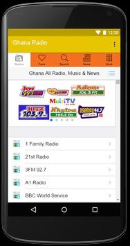 Ghana All Radios, Music & News poster