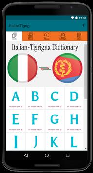 Italian to Tigrigna Easy Dictionary 4000 Words! poster