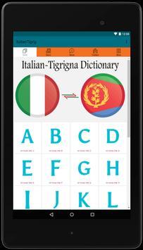 Italian to Tigrigna Easy Dictionary 4000 Words! apk screenshot