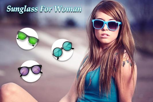 Woman San glass photo editor poster