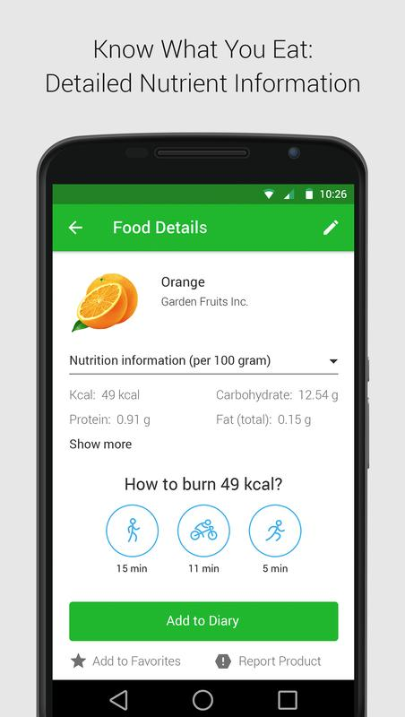 calorie carb fat counter for android apk download