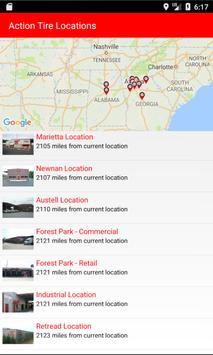 Action Tire Location Finder poster