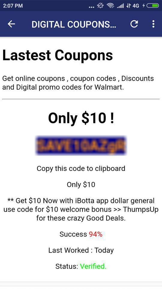Digital Promo Codes Coupons For Walmart For Android Apk Download