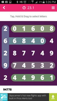 Number Search Puzzle Free apk screenshot