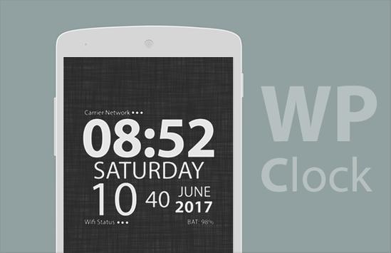 wp clock poster