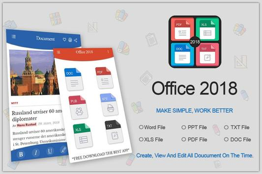 Office 2018 poster