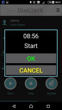 DinClock mobile screenshot 1