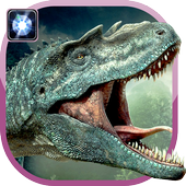 Flashlight dinosaur torch icon