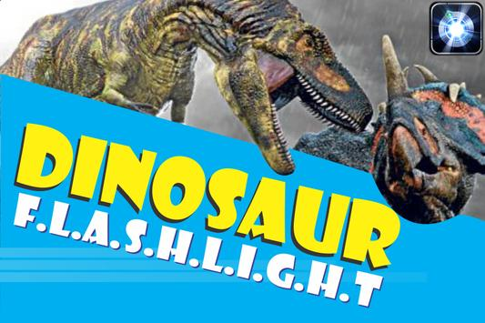 Flashlight dinosaur torch poster
