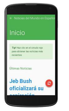Noticias del Mundo en Español apk screenshot