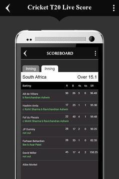 Cricket T20 WorldCup LiveScore apk screenshot