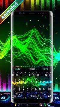 DJ Waves 3D Theme&Emoji Keyboard poster