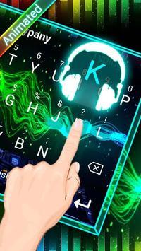 DJ Waves 3D Theme&Emoji Keyboard screenshot 1
