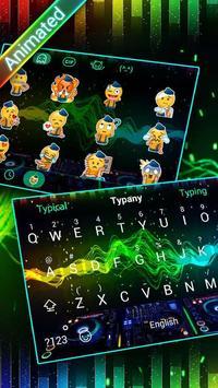 DJ Waves 3D Theme&Emoji Keyboard screenshot 2