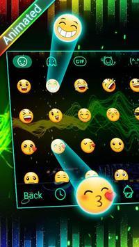 DJ Waves 3D Theme&Emoji Keyboard screenshot 3