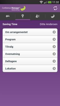 Deltager - Conference Manager apk screenshot