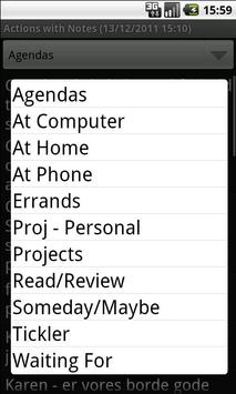 Actions with Notes screenshot 1