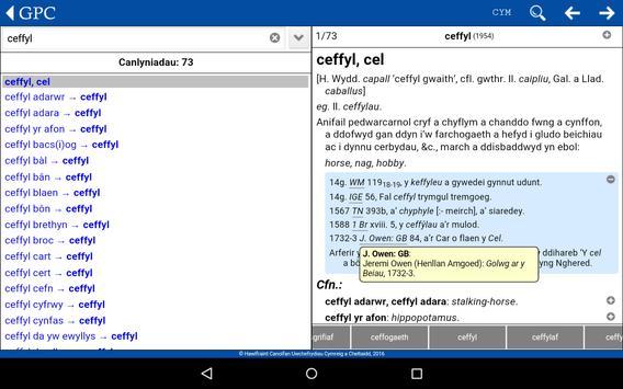 GPC Geiriadur Welsh Dictionary screenshot 16