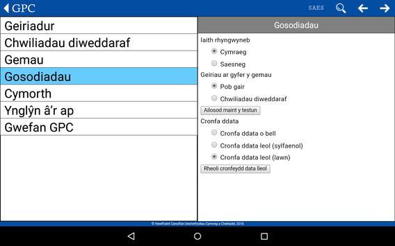 GPC Geiriadur Welsh Dictionary screenshot 18