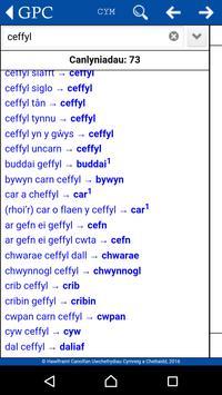 GPC Geiriadur Welsh Dictionary screenshot 2