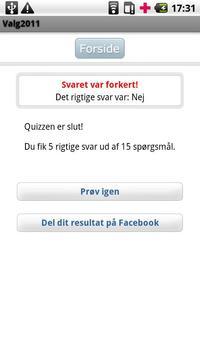 Valg2011 apk screenshot