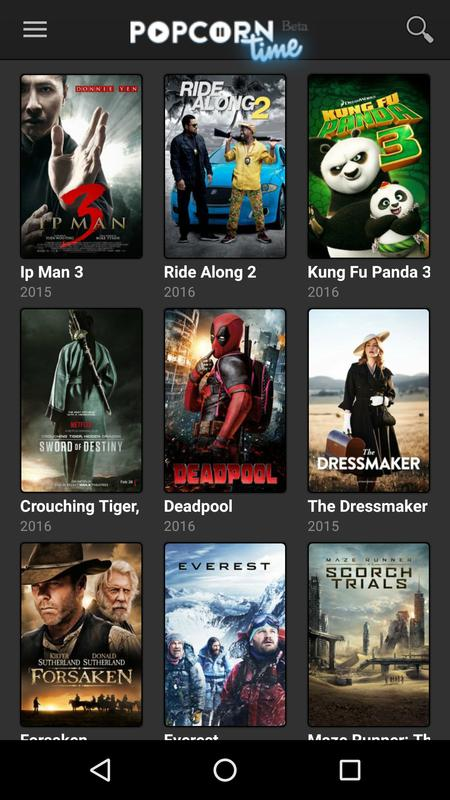 Popcorn time for Android - APK Download