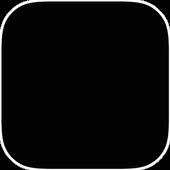 Black Wallpaper full HD icon