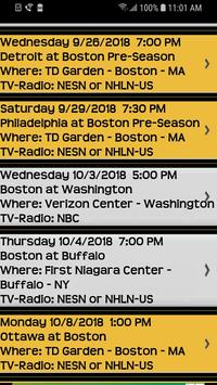 Schedule for Boston Bruins Fans and Trivia Game for Android - APK
