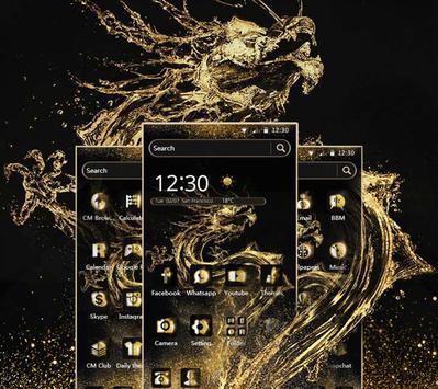Dragon Gold Theme apk screenshot