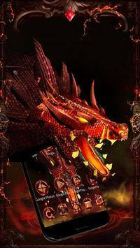 3D Evil Fire Dragon Blood Theme poster