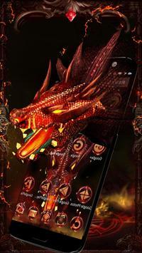 3D Evil Fire Dragon Blood Theme apk screenshot