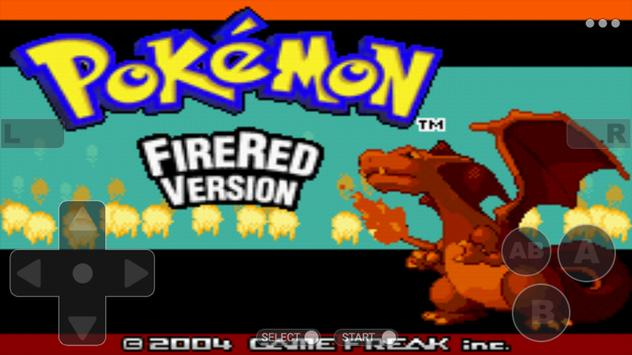Pokemoon fire red version - Free GBA Classic Game poster