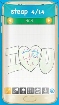 How to Draw Love Hearts apk screenshot