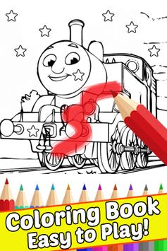 How Draw Coloring for Thomas Train Friends by Fans screenshot 1