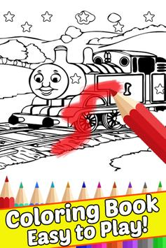 How Draw Coloring for Thomas Train Friends by Fans screenshot 2