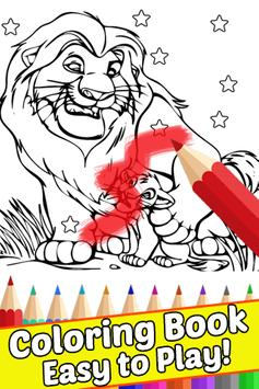 How Draw Coloring for The King Lion by Fans poster