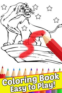 How Draw Coloring for The King Lion by Fans apk screenshot